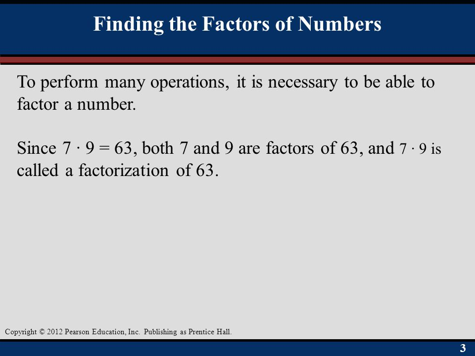 Finding the Factors of Numbers