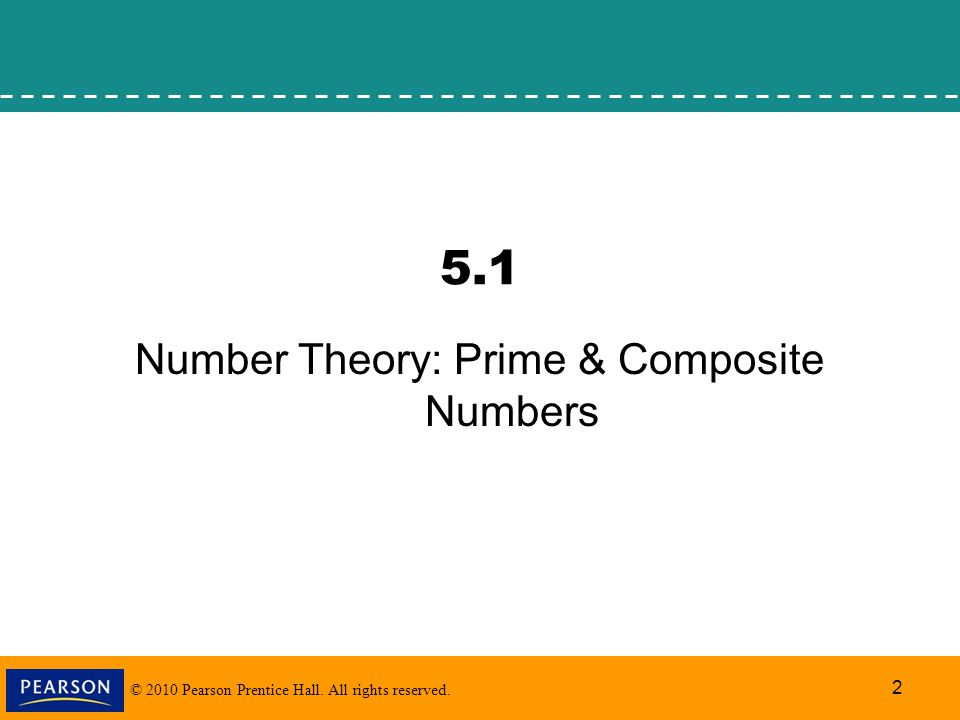 Number Theory: Prime & Composite Numbers