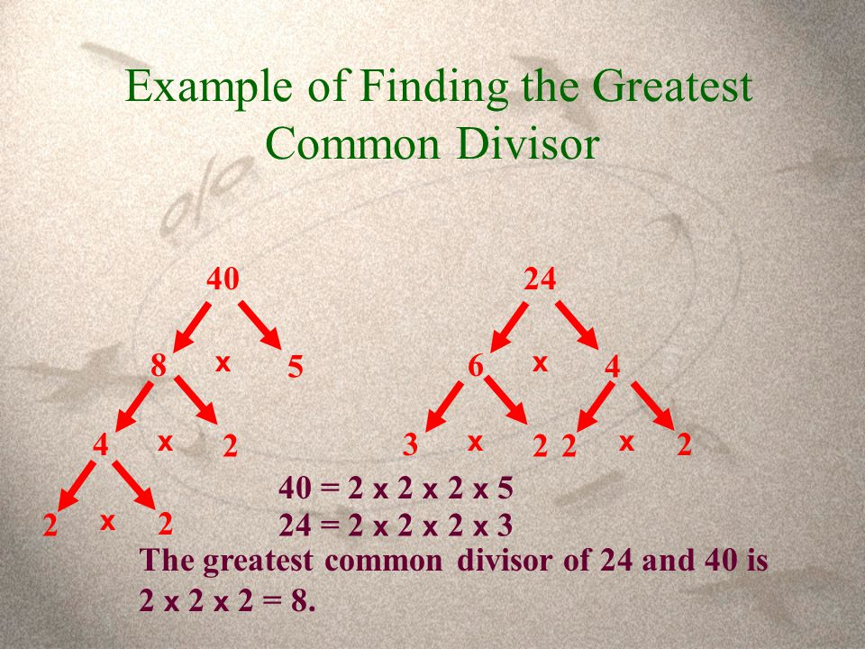 Example of Finding the Greatest Common Divisor
