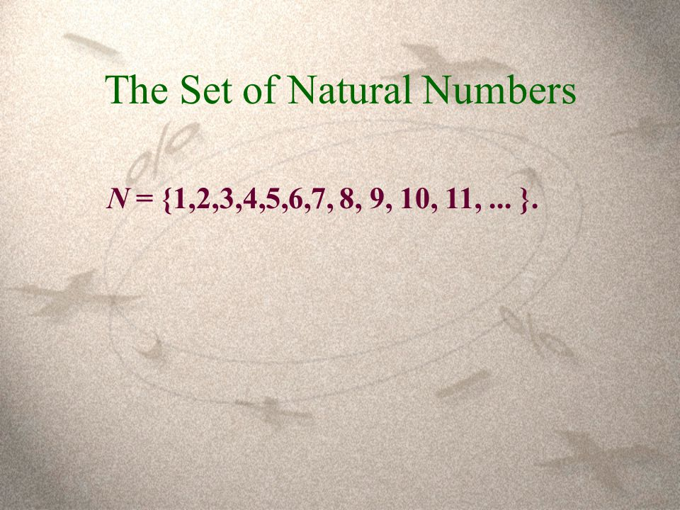 The Set of Natural Numbers