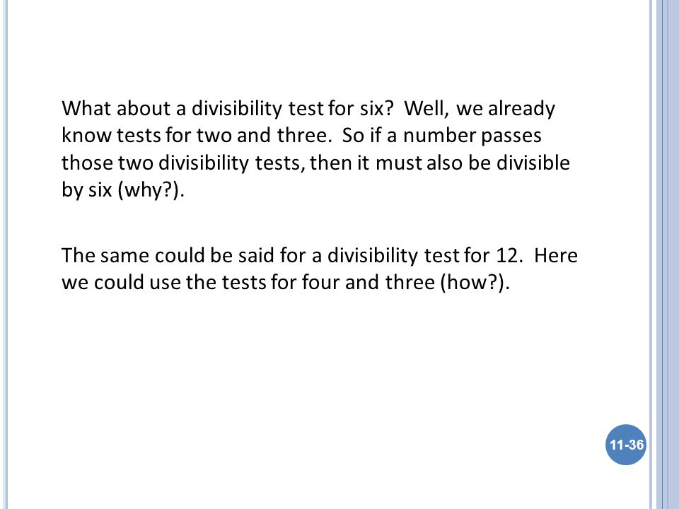 What about a divisibility test for six