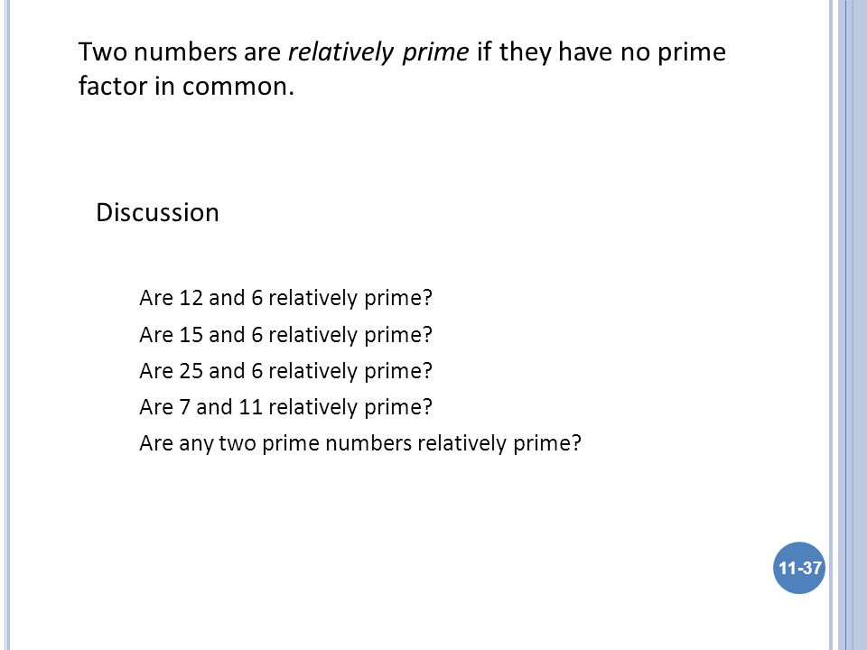 Are 12 and 6 relatively prime