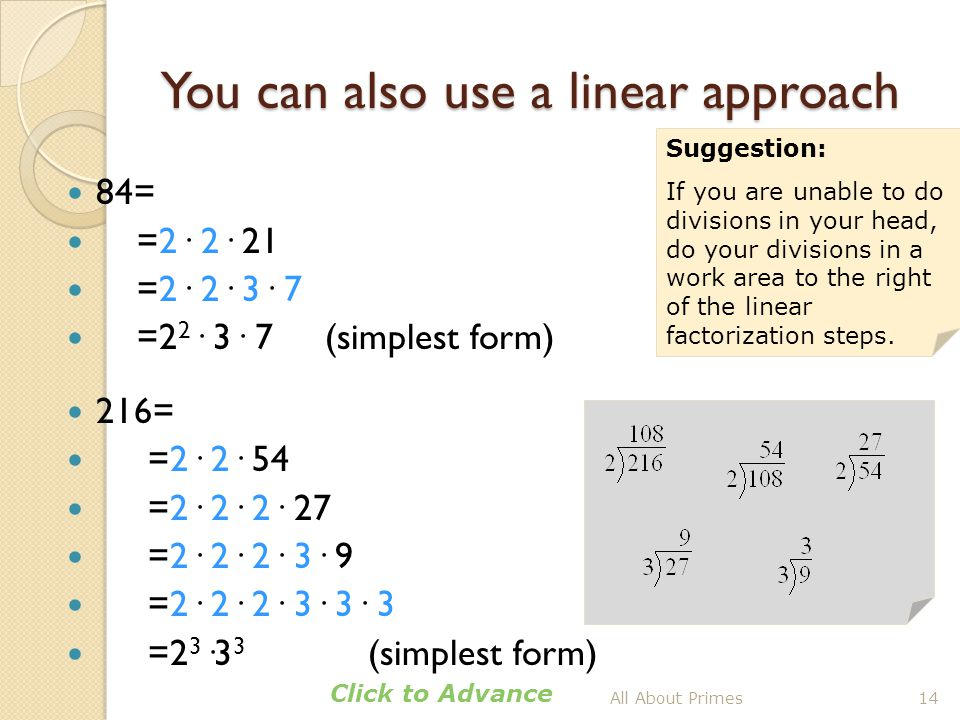You can also use a linear approach