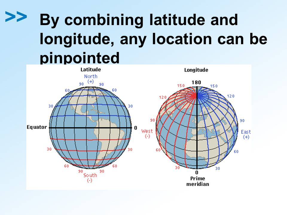 By combining latitude and longitude, any location can be pinpointed
