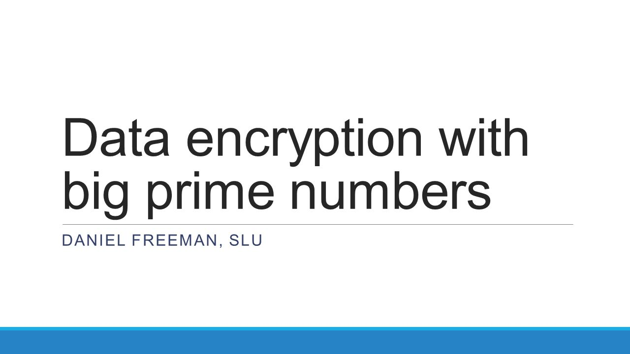 Data encryption with big prime numbers