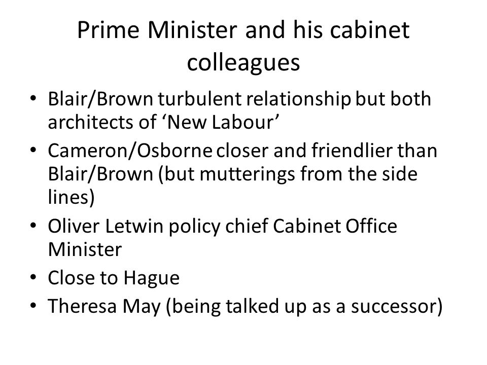 Prime Minister and his cabinet colleagues