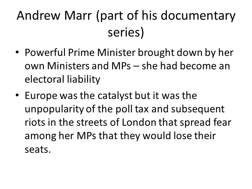 Andrew Marr (part of his documentary series)