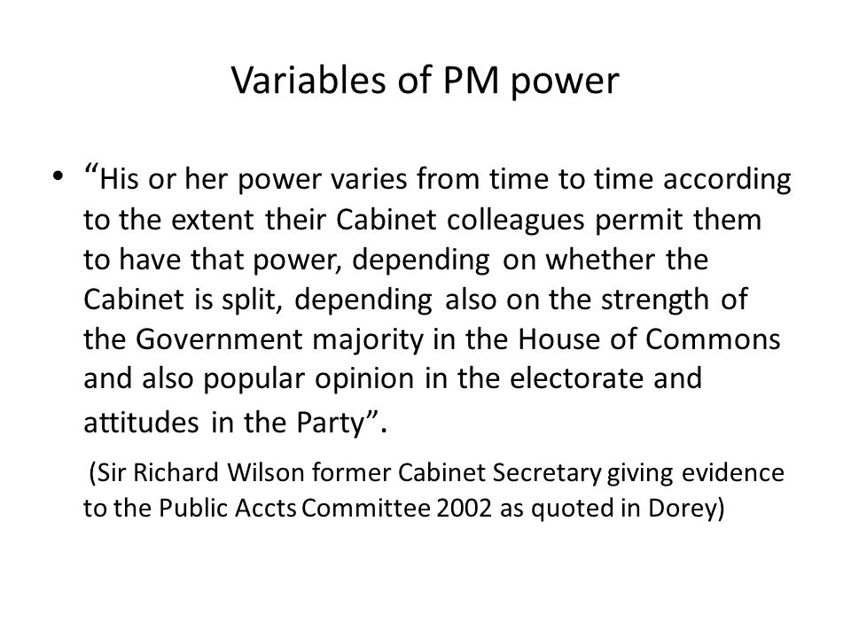 Variables of PM power