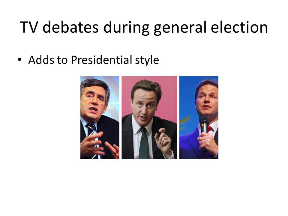 TV debates during general election