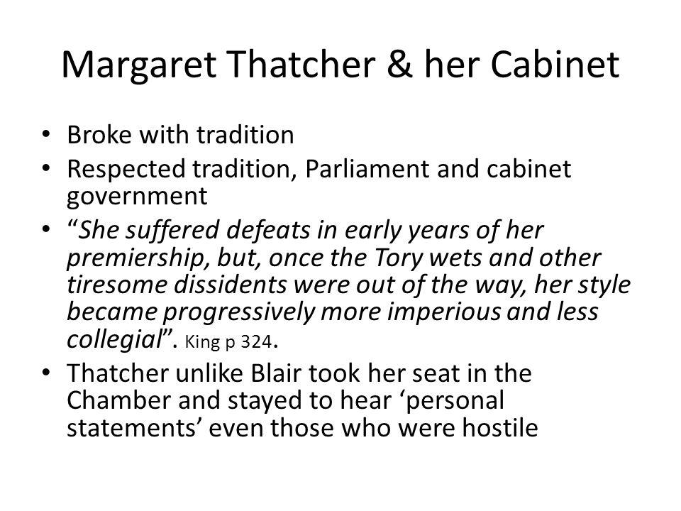 Margaret Thatcher & her Cabinet