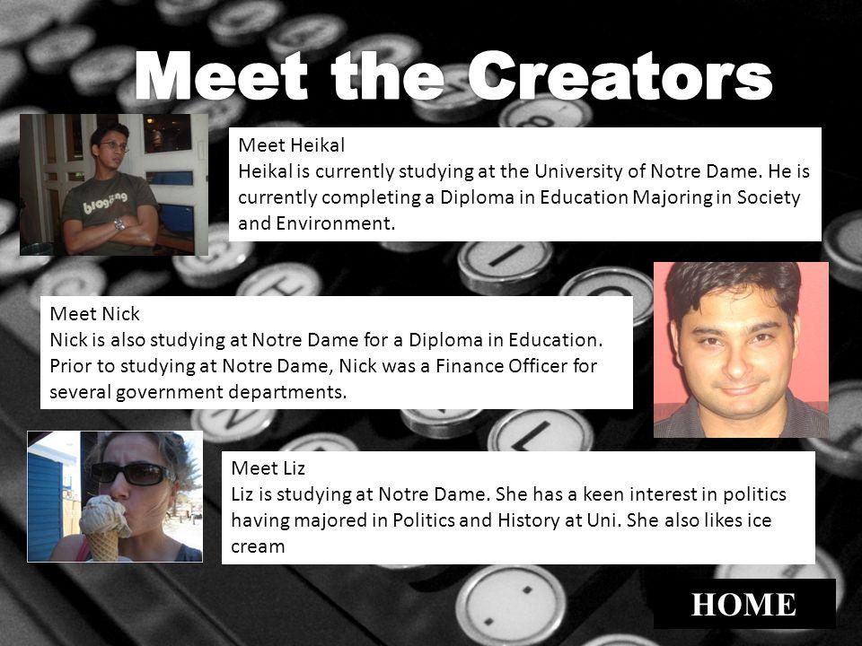 Meet the Creators HOME Meet Heikal