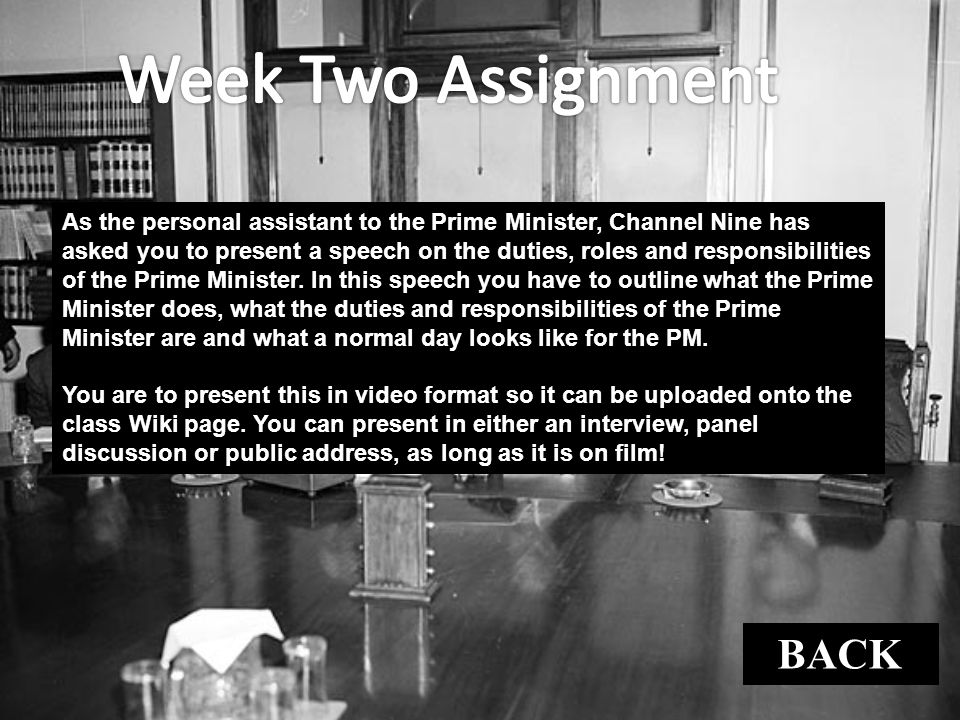 Week Two Assignment BACK