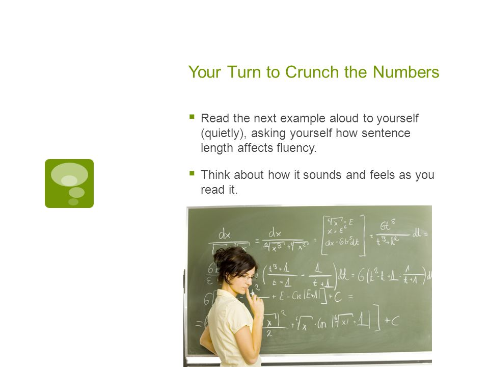 Your Turn to Crunch the Numbers