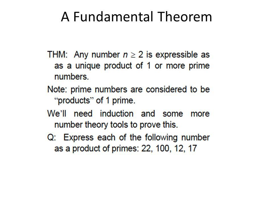 A Fundamental Theorem