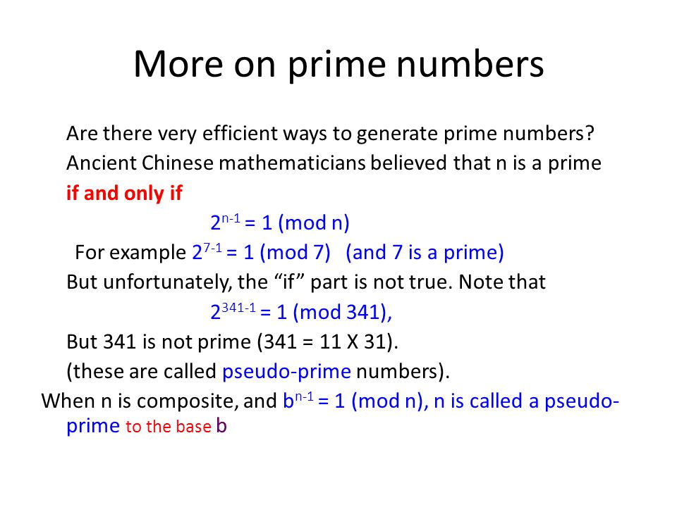 More on prime numbers