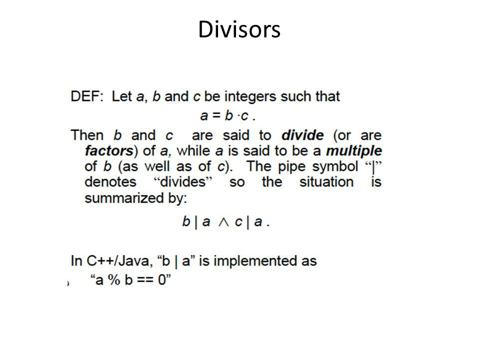 Divisors