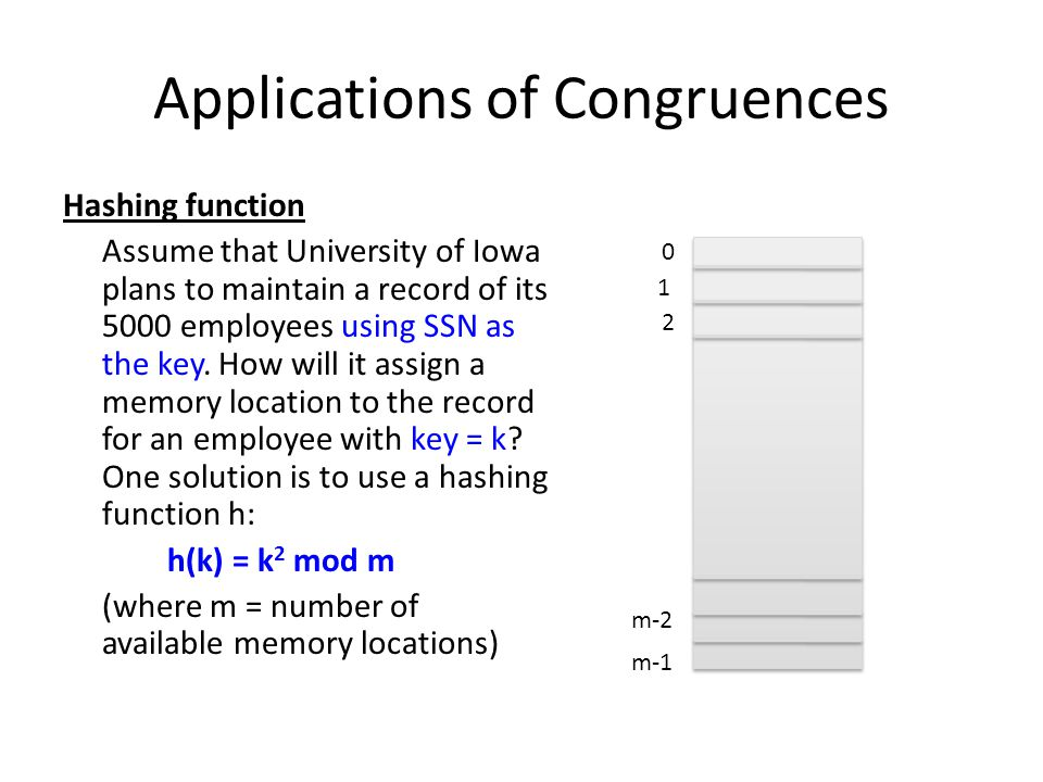 Applications of Congruences