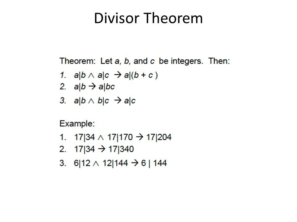 Divisor Theorem