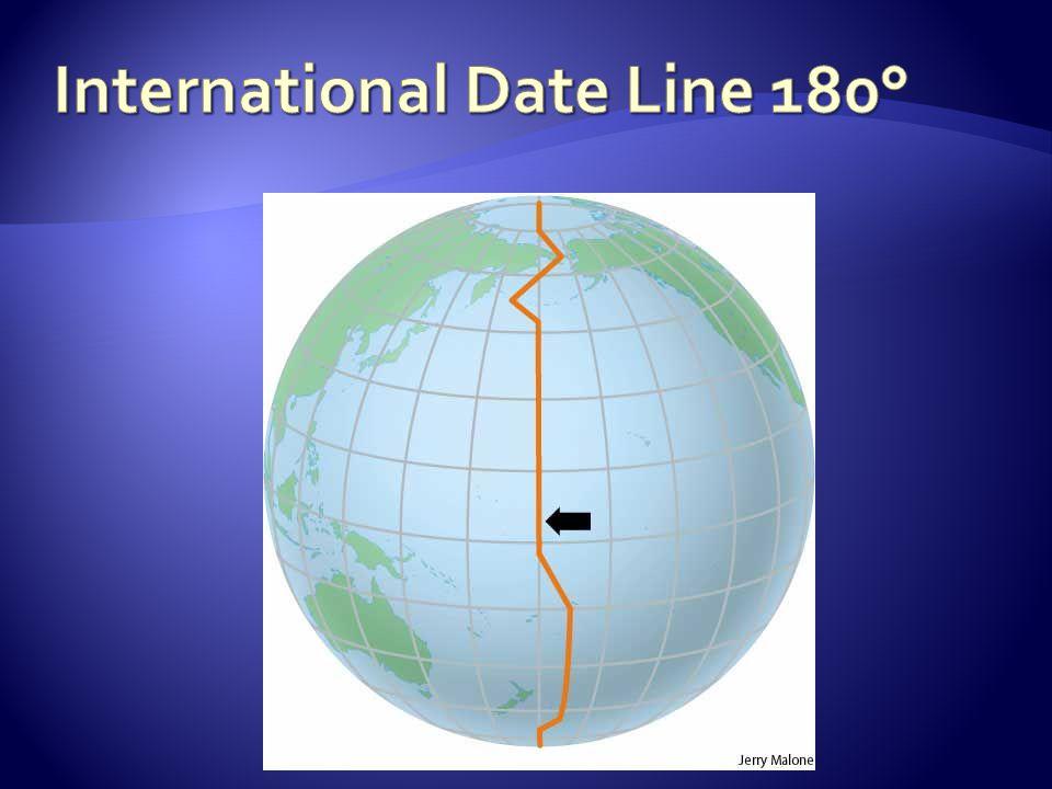 International Date Line 180°