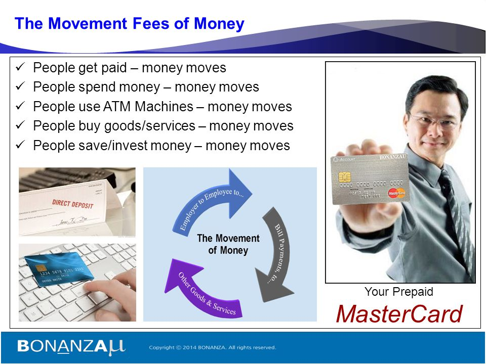 The Movement Fees of Money