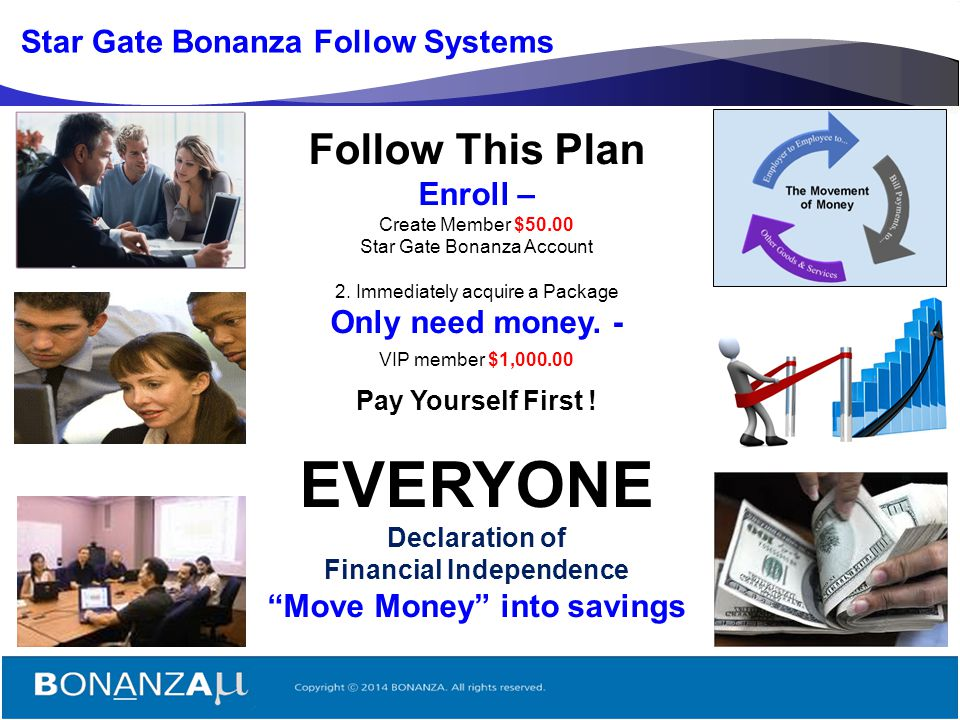 EVERYONE Follow This Plan Star Gate Bonanza Follow Systems Enroll –