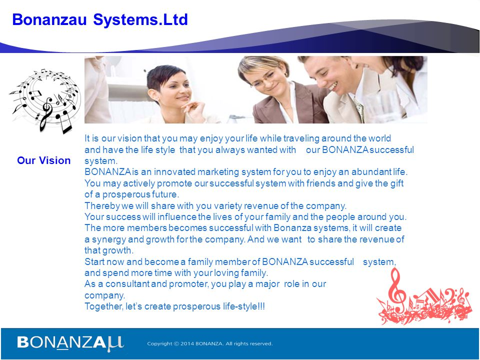 Bonanzau Systems.Ltd Our Vision