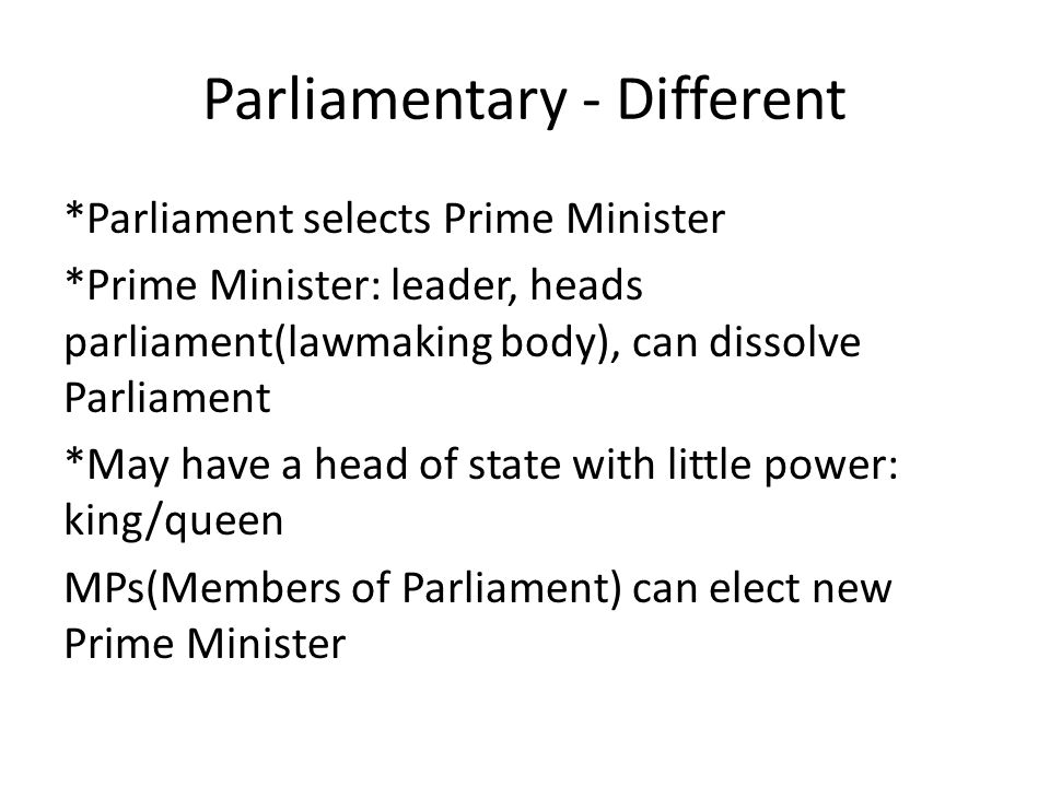 Parliamentary - Different