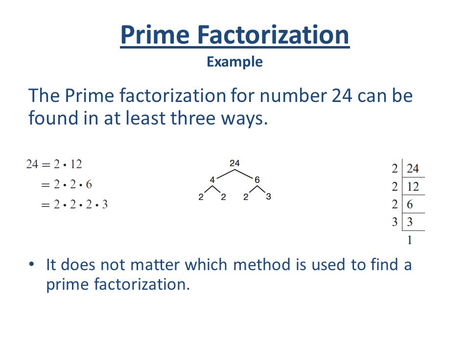 Prime Factorization Example