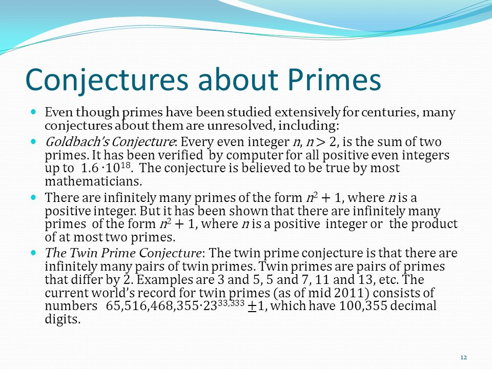 Conjectures about Primes