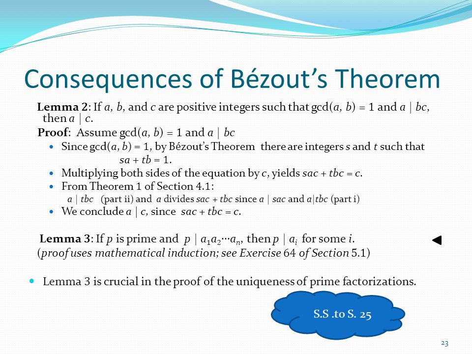 Consequences of Bézout's Theorem