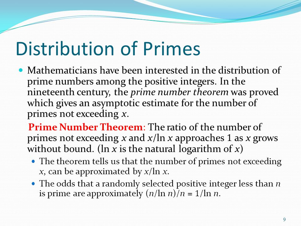 Distribution of Primes
