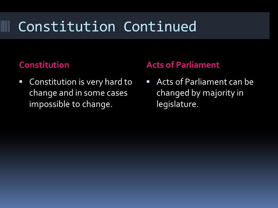 Constitution Continued