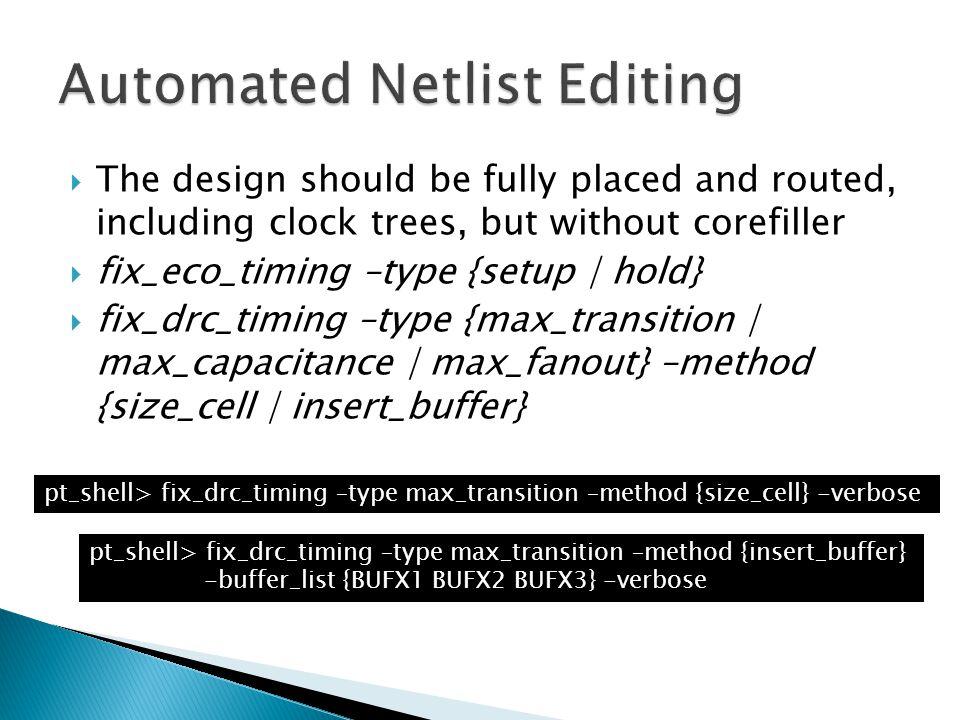 Automated Netlist Editing