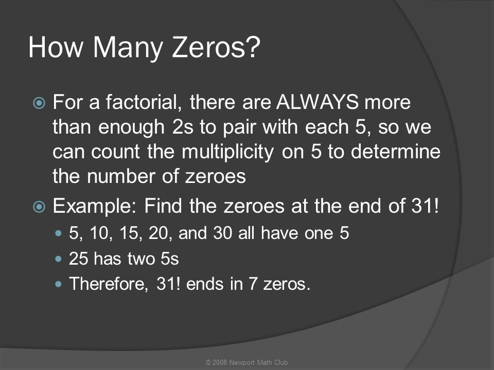 How Many Zeros