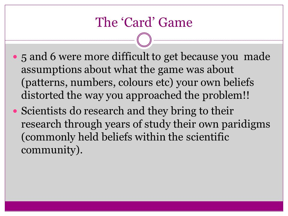 The 'Card' Game