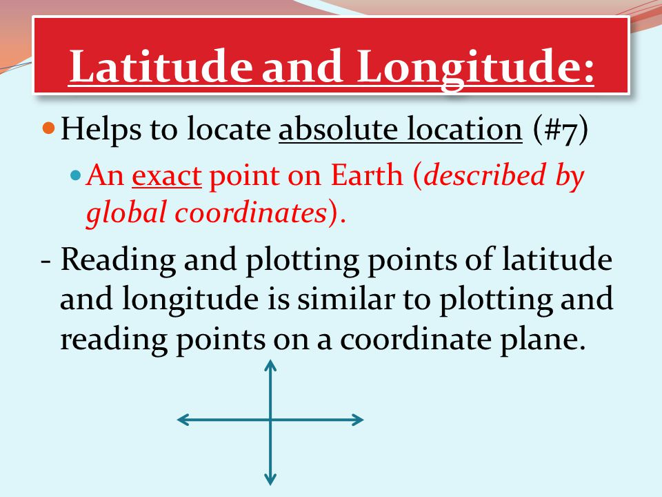 Latitude and Longitude: