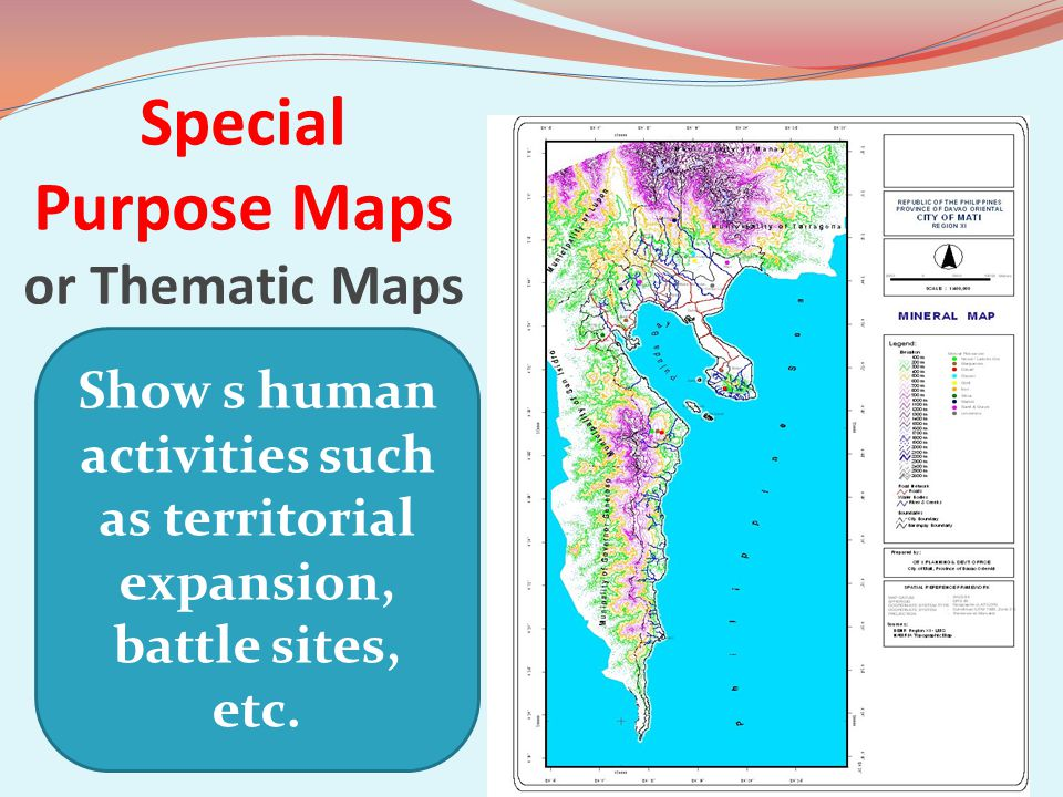 Special Purpose Maps or Thematic Maps