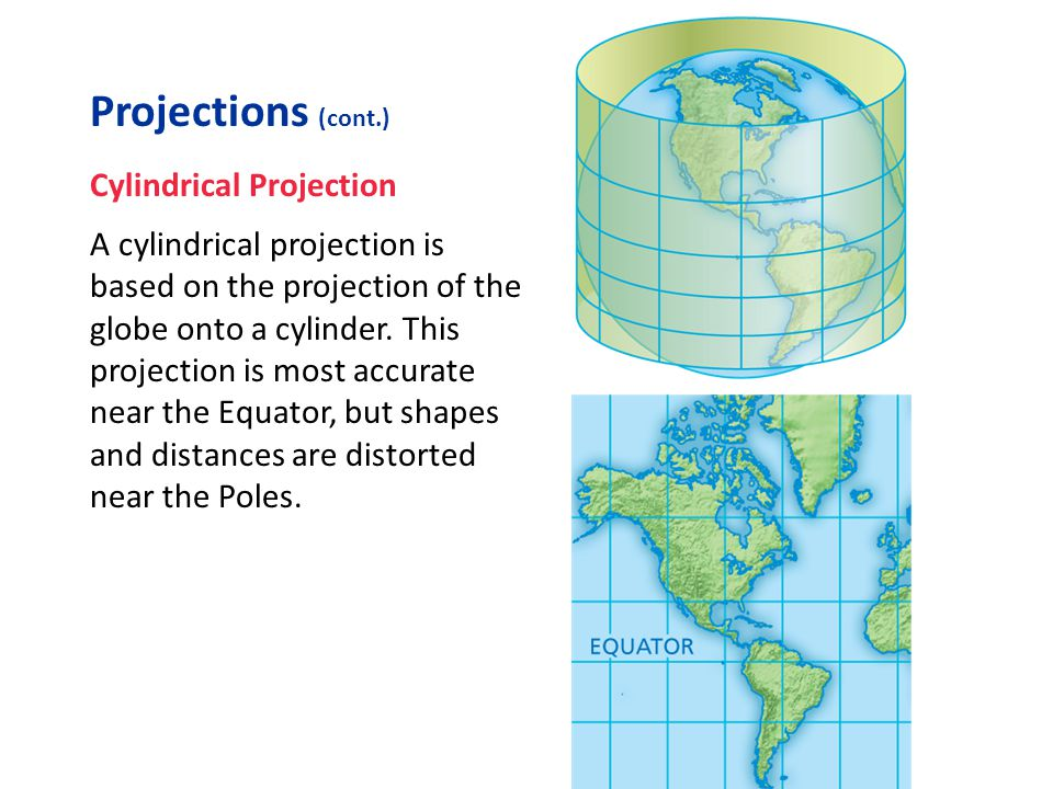 Projections (cont.) Cylindrical Projection