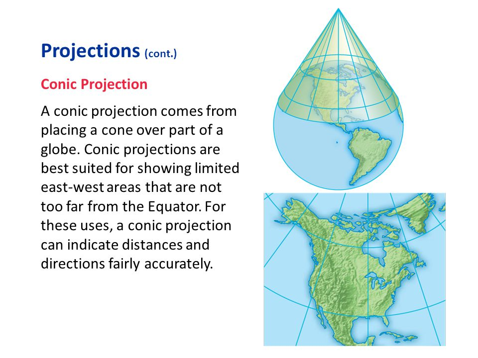 Projections (cont.) Conic Projection