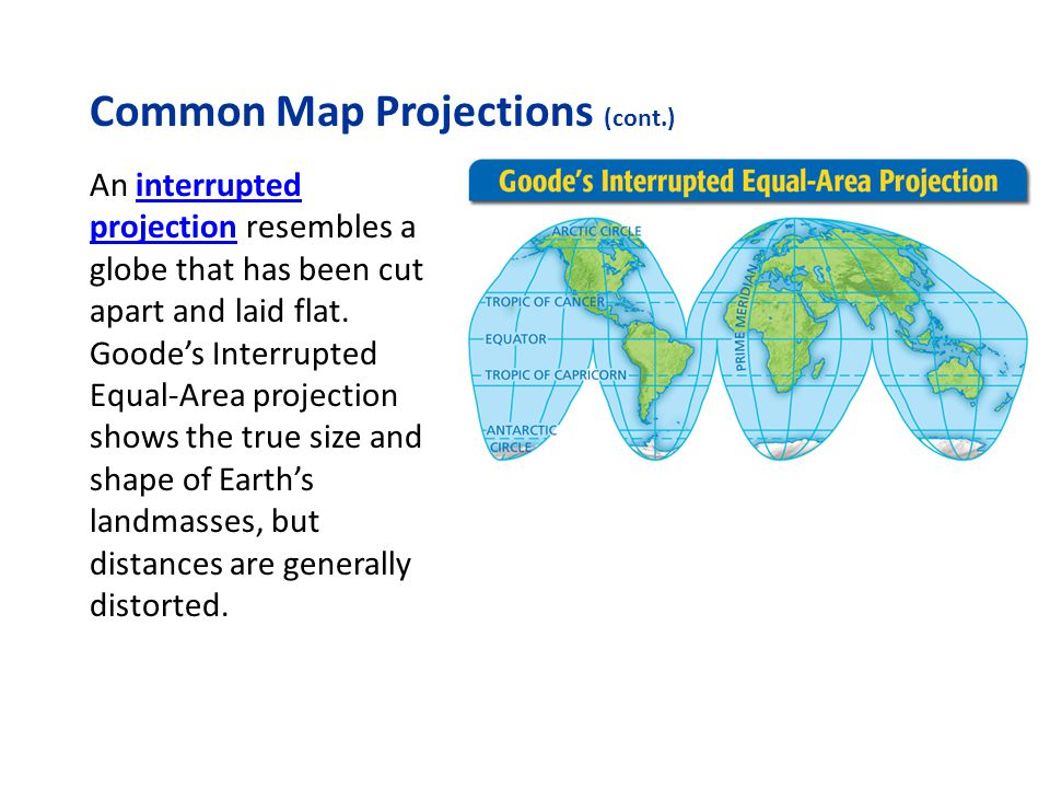 Common Map Projections (cont.)