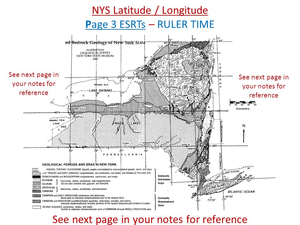 NYS Latitude / Longitude Page 3 ESRTs – RULER TIME