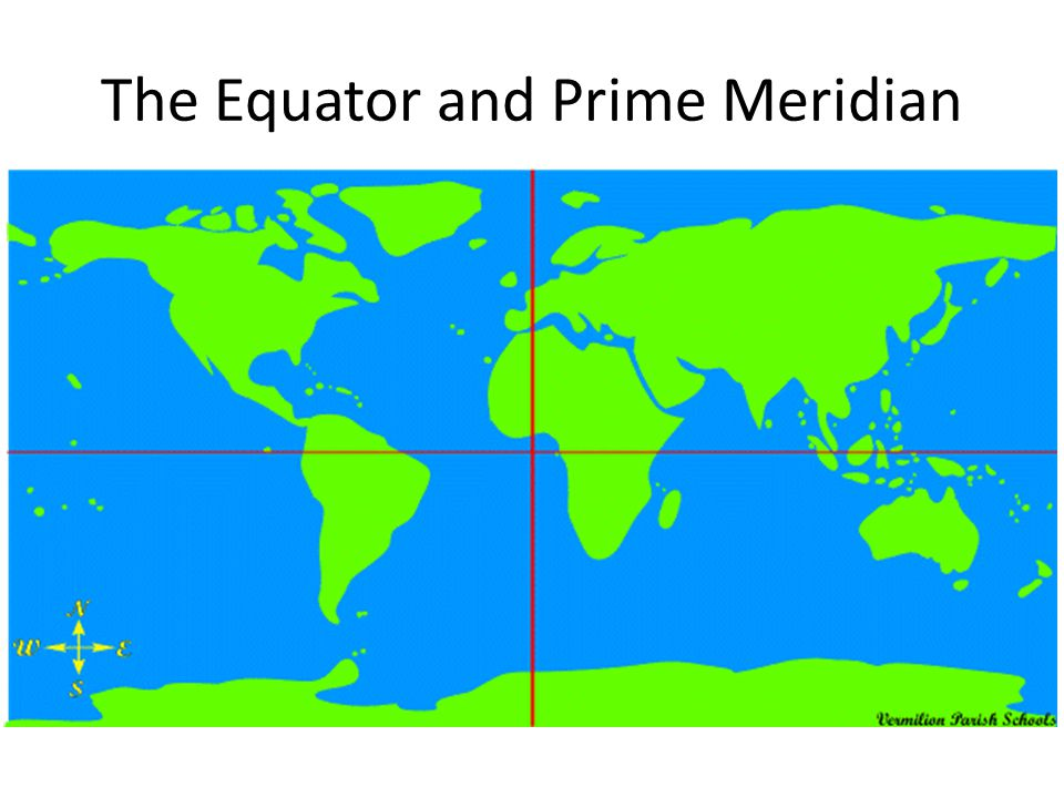 World map with equator and prime meridian timekeeperwatches gumiabroncs Gallery