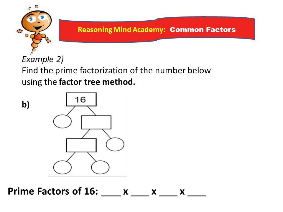 Reasoning Mind Academy: Common Factors