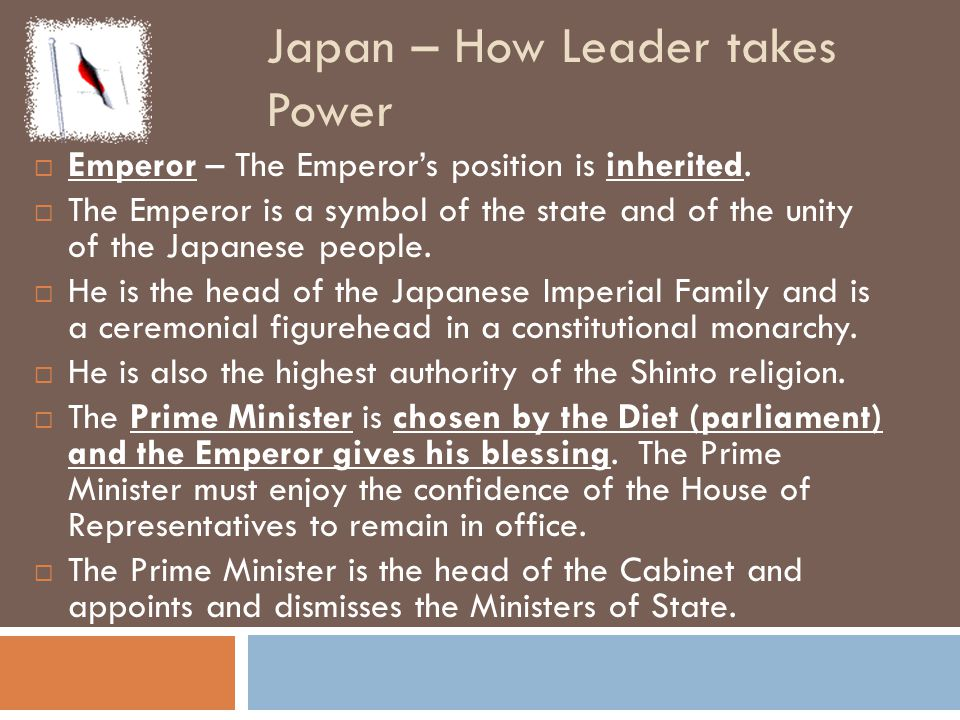 Japan – How Leader takes Power