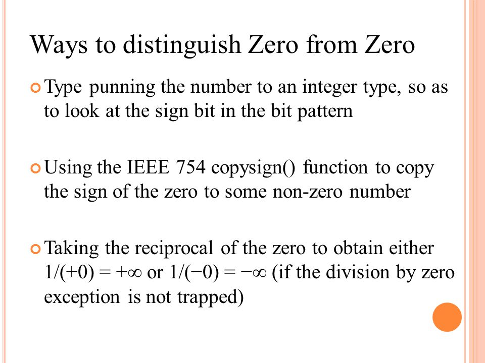Ways to distinguish Zero from Zero