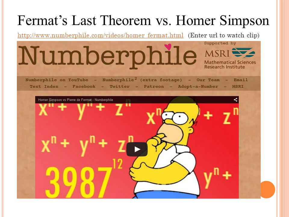Fermat's Last Theorem vs. Homer Simpson