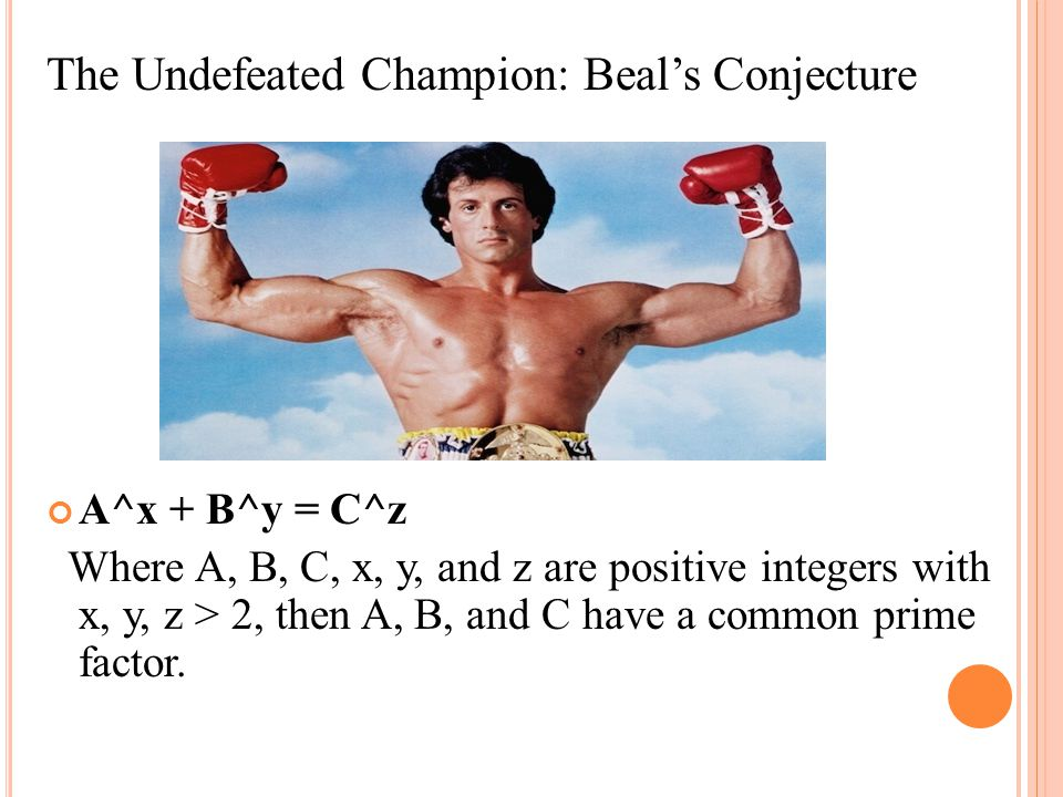 The Undefeated Champion: Beal's Conjecture