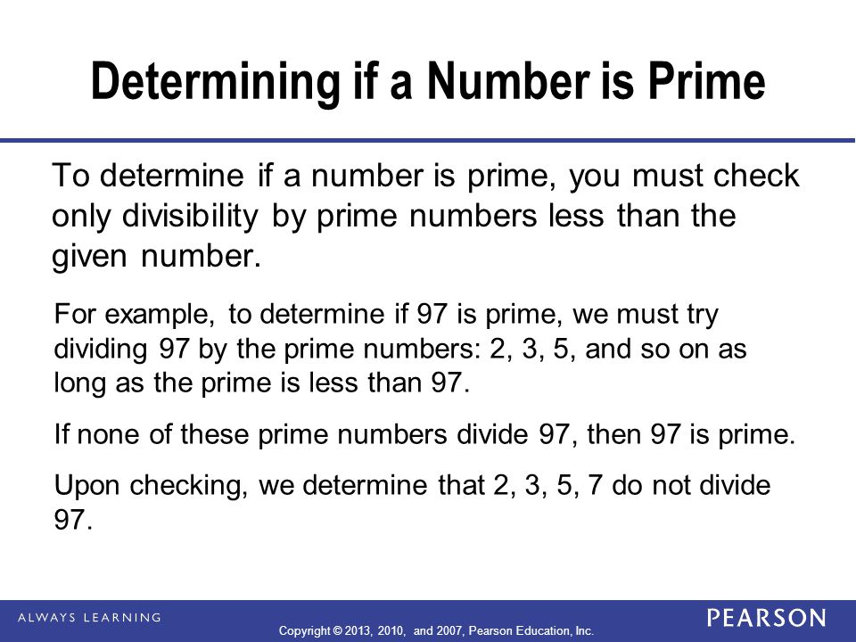 Determining if a Number is Prime