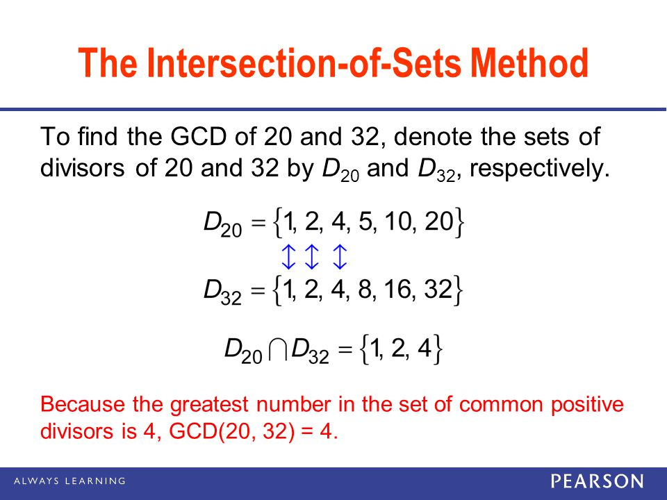 The Intersection-of-Sets Method