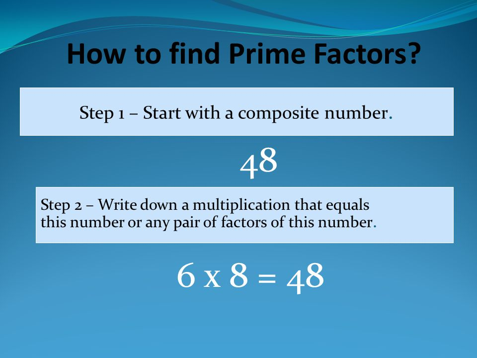 How to find Prime Factors